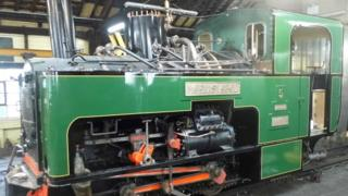 Loco number five in the workshop