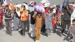 Displaced Iraqis from the Yazidi community