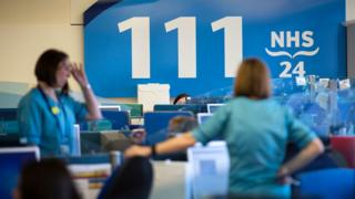 NHS 111 centre in Scotland