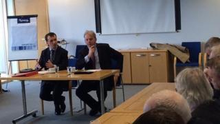Welsh secretary Alun Cairns and Welsh office minister Guto Bebb meet north Wales regional leaders on Wednesday