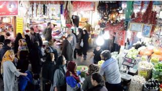 في أحد الأسواق في إيران
