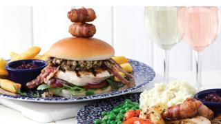 Wetherspoons Christmas meals.