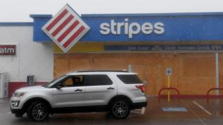 Some businesses have been boarded up ahead of the hurricane's arrival