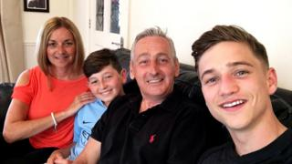 Stephen Spence and family