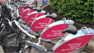 Glasgow bike hire station