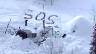Imagen de Tyson Steele con el mensaje de SOS