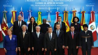 Miembros del Mercosur reunidos.