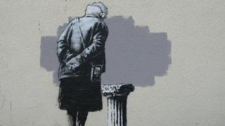 The mural called Art Buff is on a wall in Payer Park in Folkestone