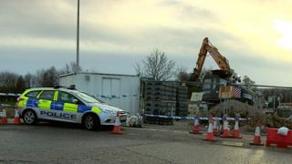 Police at death scene