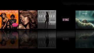 Beyonce single and album covers
