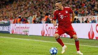 Image shows Franck Ribery of Bayern Munich