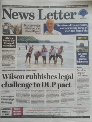 News Letter front page July 10