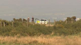 Police at scene of glider crash