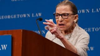 US Supreme Court Justice Ruth Bader Ginsburg. Photo: September 2019