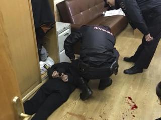 Intruder arrested by police, 23 Oct 17