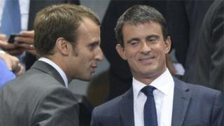 Manuel Valls ve Emmanuel Macron