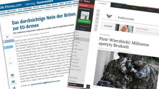 Articles in Austria's Die Presse daily and Poland's Rzezcspospolita discuss proposals for closer EU defence co-operation.