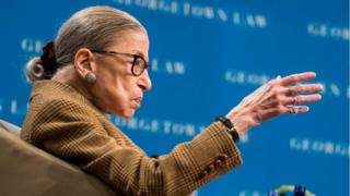 US Supreme Court Justice Ruth Bader Ginsburg. File photo