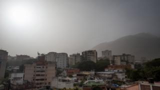 Le particelle di polvere sono state osservate a Caracas, in Venezuela, il 21 giugno 2020.