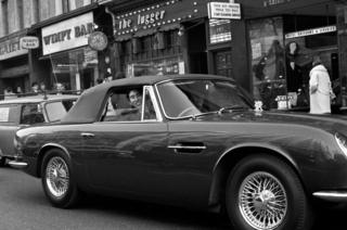 Prince of Wales at the wheel of his Aston Martin
