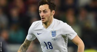 Ryan Mason in action for England