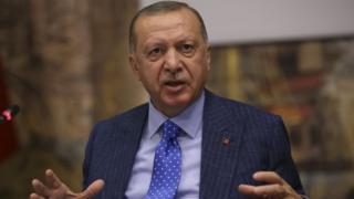 Turkish President Recep Tayyip Erdogan. Photo: 13 October 2019