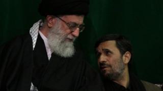 محمود احمدی نژاد و آیت الله خامنه ای