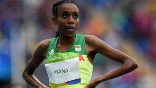 Almaz Ayana nos Jogos Olímpicos do Rio