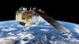 (ภาพจากฝีมือศิลปิน) ดาวเทียม Sentinel-2B เป็นส่วนหนึ่งของโครงการสำรวจสิ่งแวดล้อมโลกมูลค่าหลายพันล้านยูโรของสหภาพยุโรป