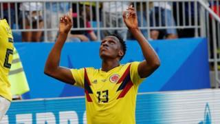 Yerry Mina mchezaji wa kiungo cha kati upande wa nyuma wa Barcelona na Colombia