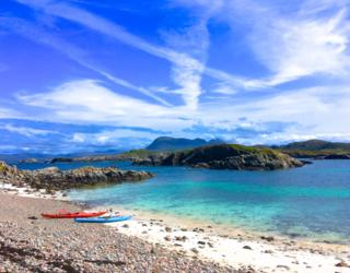 From Maurice O'Connell from Strathpeffer. Picture taken on a kayak trip around Oldany Island, Assynt.