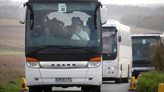 The passengers are travelling by coach from Wiltshire to Arrowe Park hospital in Wirral