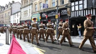 104th Regiment Royal Artillery freedom parade in Newport