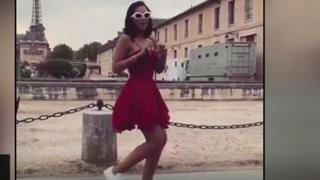 فتاة ترقص رقصة كيكي