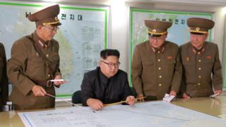 金正恩和朝鲜将军们