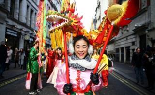 Performer at London parade