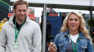 Cyclists Jason and Laura Kenny