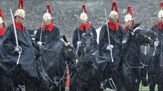 Дворцовая кавалерия броитанской армии во время торжественного патруля