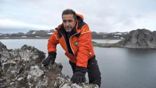 Javier Montojo Salazar at an unspecified location in Antarctica in an undated handout photo from the Spanish defence ministry on 3 March 2018