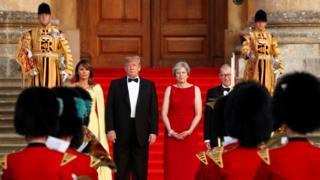Трамп и Мэй с супругами