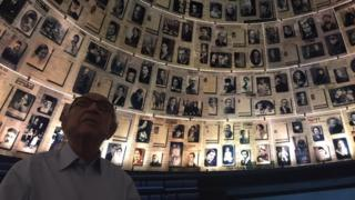 Maxwell Smart in the Hall of Names of Yad Vashem