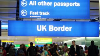 Border checks at Heathrow Airport