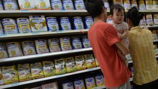 China milk powder on sale