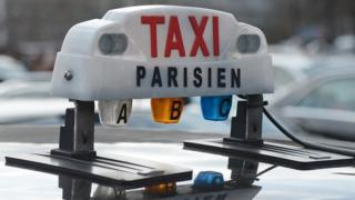 Paris taxi sign, file pic