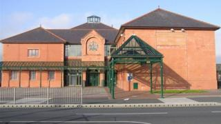 The front entrance of Llandudno Magistrates Court
