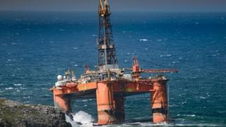Oil Rig washed up on Scottish shores