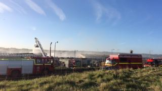 Maryport factory fire