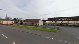 Premises of removal firm Matt Purdie and Sons on East Main Street, Blackburn
