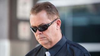Neil Punchard arrives in court in Brisbane, Australia