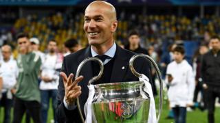 Real Madrid's former head coach Zinedine Zidane